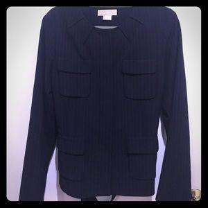 Michael Kors navy blue pin striped suit